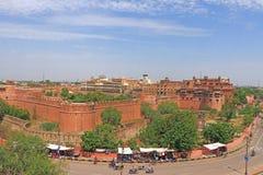 Main road around Junagarh red Fort Bikaner rajasthan india Royalty Free Stock Photos