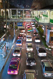 Main road in Bangkok in nightly Royalty Free Stock Photography