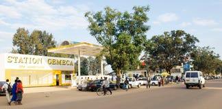 Main road at Butare, Rwanda Royalty Free Stock Photo