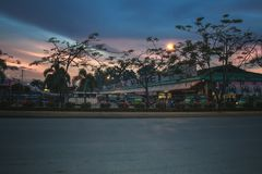 Main Road going to Tagum City Bus Terminal. Tagum, Philippines Stock Photo
