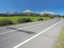 Main road leading to High Tatras in summer Royalty Free Stock Image
