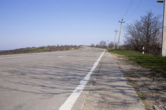 Main road outgoing to distance. Stock Photography