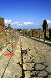 Main Road in Pompeii Royalty Free Stock Images