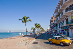 Main Road in Puerto Vallarta royalty free stock image