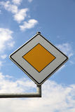 Main road sign Stock Photo