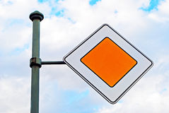 Main road sign Royalty Free Stock Photos