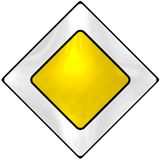 Main-road sign Royalty Free Stock Image