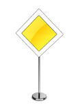 Main road sign Stock Photography