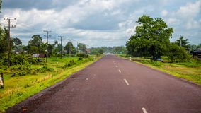 Main road in southern Laos Royalty Free Stock Images