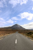 Main road to the Errigal mountains Stock Images