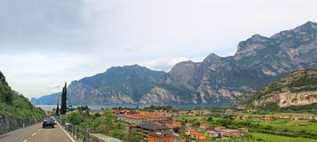 Main road to riva del garda, Tourist Resort, italy Stock Photos