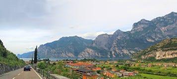 Main road to riva del garda, Tourist Resort, italy Stock Photos