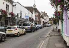 Main road through Wotton-under-Edge in the Cotswolds Stock Image