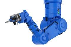 Main robotique de soudure de bras ou de robot illustration de vecteur