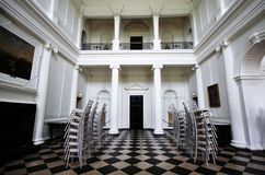 Main room with checkered floor at Russborough Stately House, Ireland Royalty Free Stock Images