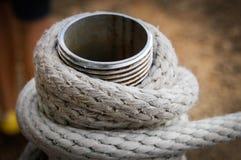 Main rope. On the beach Royalty Free Stock Photos