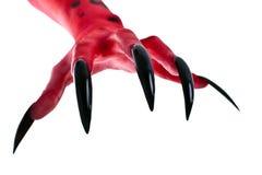 Main rouge 2 de devil´s Photographie stock libre de droits