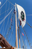 Main sail on tall ship Stock Image