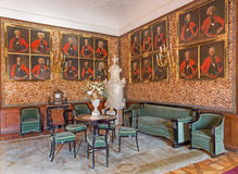 Main saloon in palace Saint Anton. Royalty Free Stock Photography