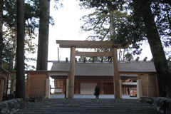 Main sanctuary of Ise shrine Royalty Free Stock Image