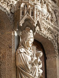 Main sculpture in the cathedral of Leon (Castilla) Royalty Free Stock Images