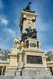 Main sculptures of the monument to Alfonso Stock Image
