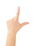 Main se dirigeant, touchant ou appuyant. Image libre de droits