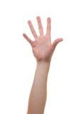 Main se levant et saisissant pour d'autres mains Photo stock