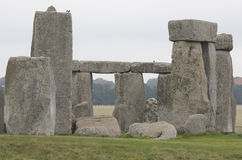 Main section of Stonehenge site. Main warden and blue stones with lintels forming the iconic image of stonehenge monument Royalty Free Stock Photo