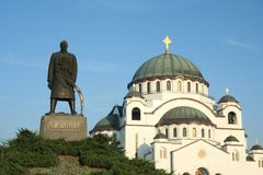 Main serbian cathedral Royalty Free Stock Photo