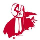 Main serrée de poing. Victoire, concept de révolte. Image libre de droits