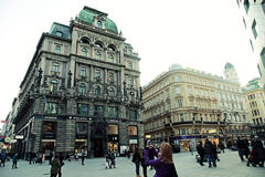 Main shopping Graben Street in Vienna, Austria. Stock Photo