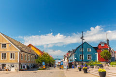 The main shopping street in the city center of Karlskrona, Swede Royalty Free Stock Photo