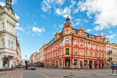 The main shopping street in the city center of Karlskrona, Swede Royalty Free Stock Images