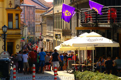 Gosposka Street, Maribor, Slovenia Royalty Free Stock Images