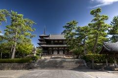 Main shrine of Hasedera temple with pagoda, Nara, Japan Royalty Free Stock Photography