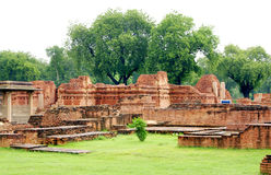 The main shrine, Mulgandhakuti ruins at Sarnath Royalty Free Stock Image