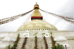 Main shrine of Swayambhunath Stupa Stock Image
