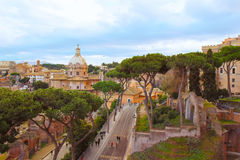 Main sights in Rome, Italy Stock Photography