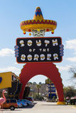 South of the Border. Main sign for the tourist attraction, South of the Border on Interstate 95 in South Carolina stock photo