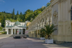 Main Spa Colonnade in Marianske Lazne Royalty Free Stock Images