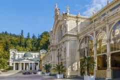 Main Spa Colonnade in Marianske Lazne Royalty Free Stock Photo