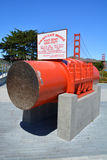 Main span size of Golden Gate Bridge Stock Photography