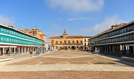 Main Square of Almagro, Spain. Plaza Mayor of Almagro, famous town of the province of Ciudad Real, Castilla la Mancha, Spain Royalty Free Stock Photography