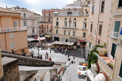 Main square in Amalfi Stock Image