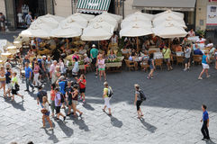 Main square in Amalfi Royalty Free Stock Images