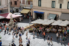 Main square in Amalfi Stock Photo