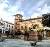 Main square in Antequera, Spain. Charming view of quaint old Town in Andalusia Stock Image