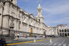 Main square of Arequipa Royalty Free Stock Photos