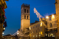 Main square of Assisi Royalty Free Stock Photos